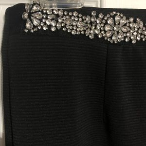 Pencil skirt with rhinestones at the top